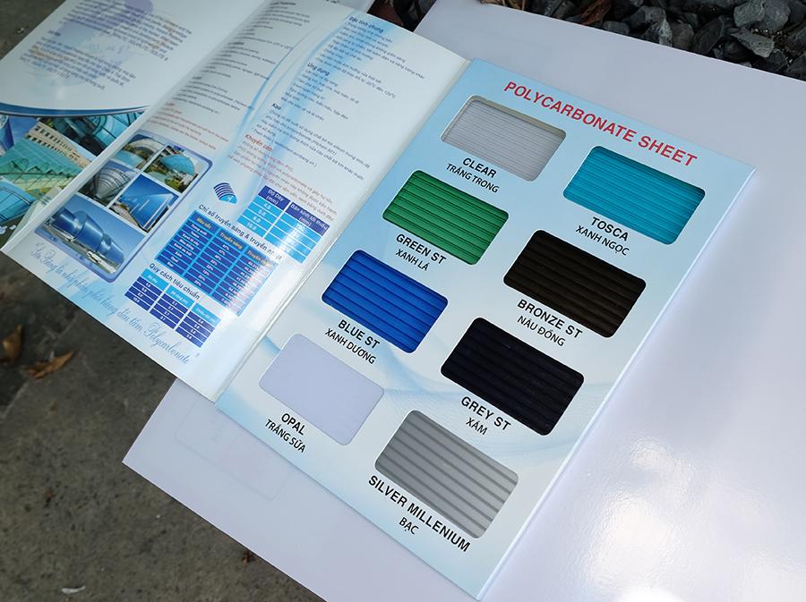 bảng mã màu tấm nhựa lấy sáng indonesia rỗng ruột