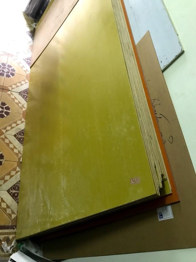 tấm nhựa phíp thủy tinh màu vàng Epoxy