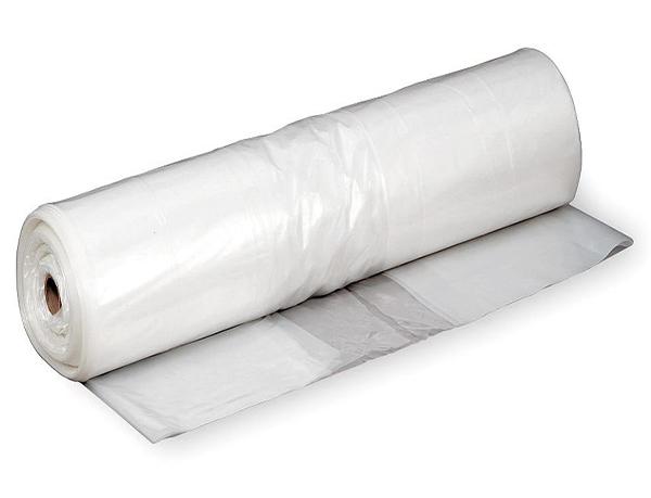 Cuộn màng lót PE chống thấm đúc bê tông công trình trắng trong